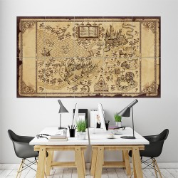 The Wizarding World of Harry Potter Map Wand-Kunstdruck Riesenposter (P-1446)