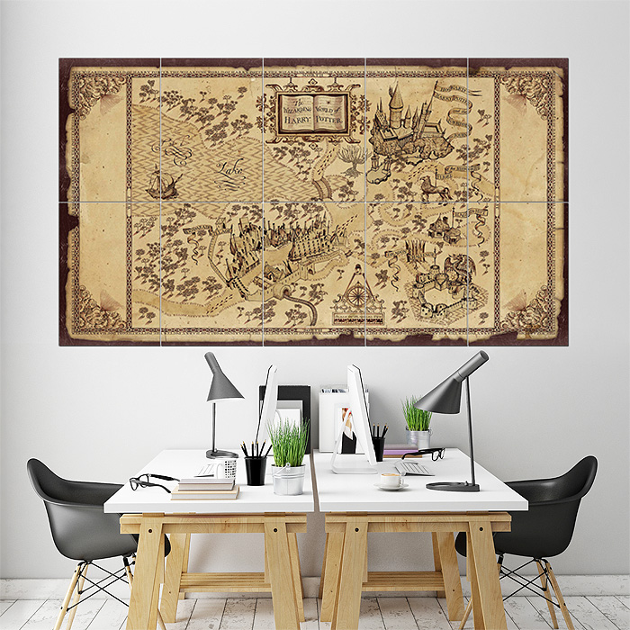 The Wizarding World of Harry Potter Map Kunstdruck Poster
