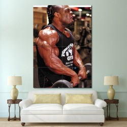 Kai Greene - Traps workout Wand-Kunstdruck Riesenposter (P-1451)
