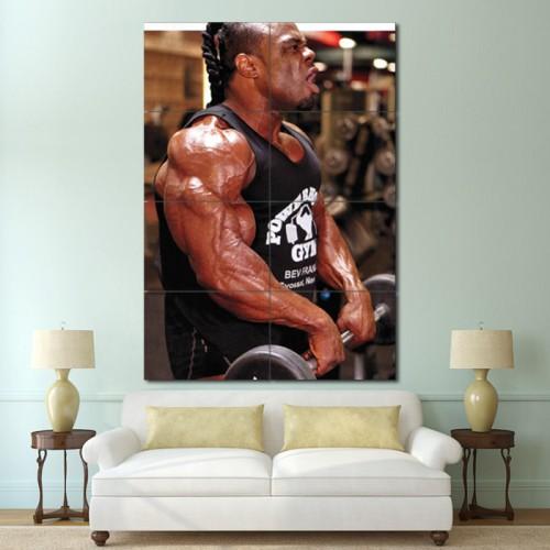 โปสเตอร์ ขนาดใหญ่ ภาพ Kai Greene - Traps workout