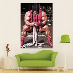 Kai Greene - after workout Wand-Kunstdruck Riesenposter (P-1452)