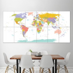 World Map #1 Block Giant Wall Art Poster (P-1461)