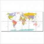 โปสเตอร์ ขนาดใหญ่ ภาพแผนที่โลก World Map #1