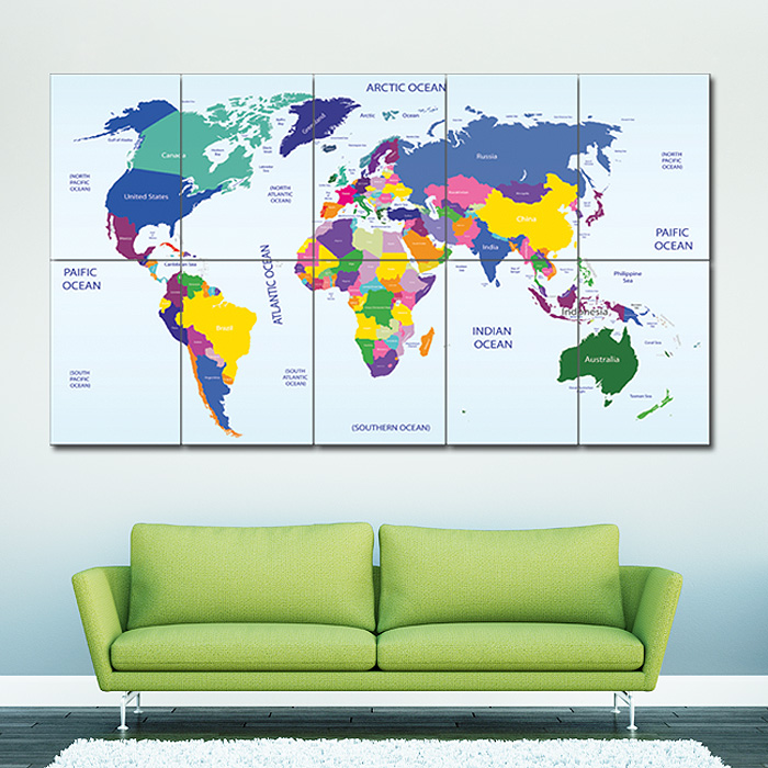 World map 2 block giant wall art poster gumiabroncs Images