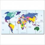 โปสเตอร์ ขนาดใหญ่ ภาพแผนที่โลก World Map #2