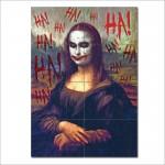 โปสเตอร์ ขนาดใหญ่ ภาพศิลปะ Joker Monalisa