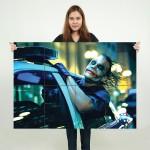 โปสเตอร์ ขนาดใหญ่ ภาพโจ๊กเกอร์ Joker on Police Car