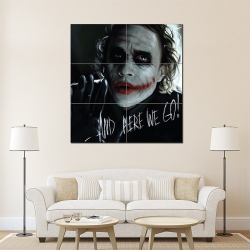 Joker - and Here We Go! Wand-Kunstdruck Riesenposter