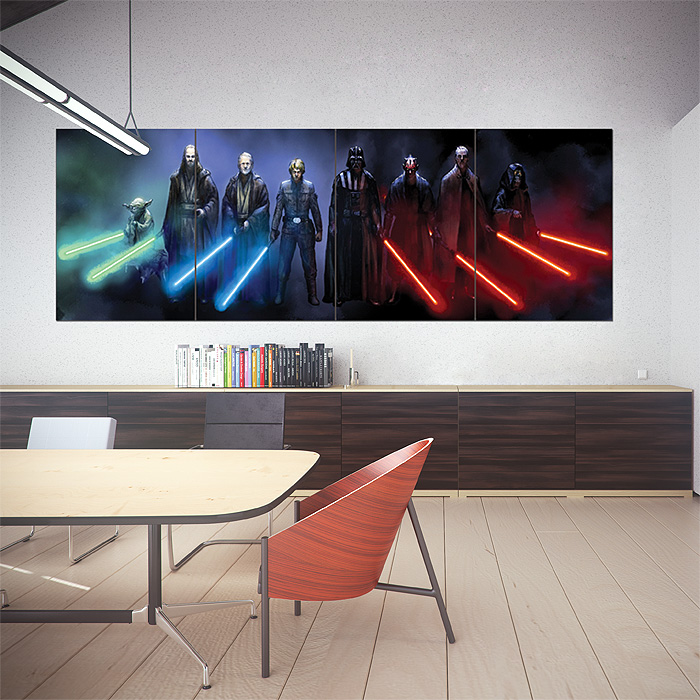 Jedi and Sith Star Wars Wand-Kunstdruck Riesenposter