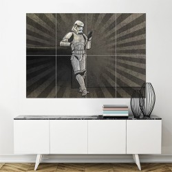 Stormtrooper Star Wars Block Giant Wall Art Poster (P-1469)