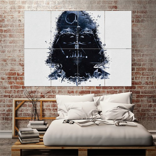 Star Wars Darth Vader Art Block Giant Wall Art Poster