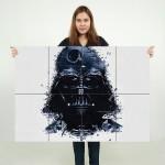 Star Wars Darth Vader Art Block Giant Wall Art Poster