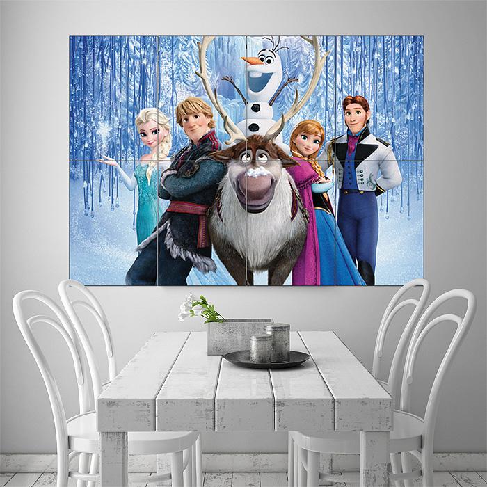 Frozen Wall Art elsa and anna frozen block giant wall art poster