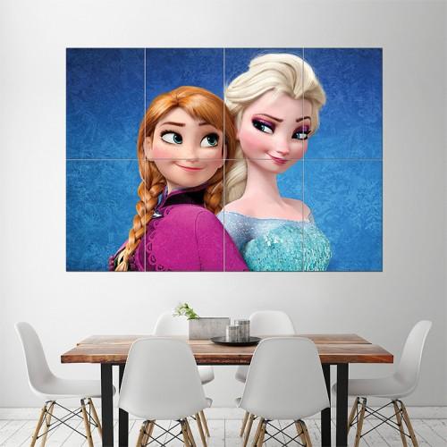 โปสเตอร์ ขนาดใหญ่ ภาพเจ้าหญิงเอลซ่า Elsa and Anna Frozen