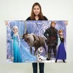 โปสเตอร์ ขนาดใหญ่ ภาพการ์ตูน Frozen Characters