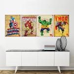 โปสเตอร์ Iron Man, Thor, Hulk, Captain America