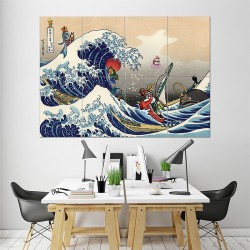 Great Wave on the Great Sea Zelda Block Giant Wall Art Poster (P-1487)