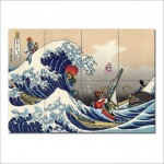 โปสเตอร์ ภาพศิลปะ Great Wave on the Great Sea Zelda