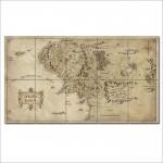 โปสเตอร์ ภาพแผนที่ Map of Middle Earth - Lord of the Rings