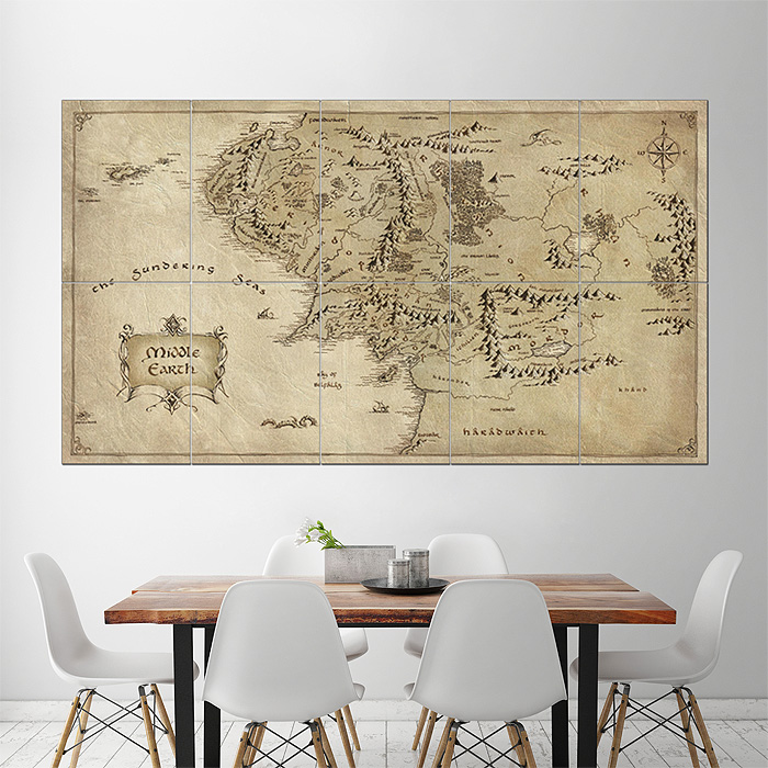 Map of middle earth lord of the rings giant wall art poster gumiabroncs Gallery