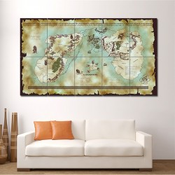Map of Middle Earth - Lord of the Rings #1 Block Giant Wall Art Poster (P-1490)