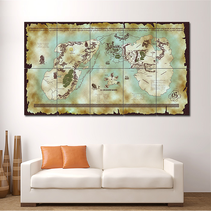 & Map of Middle Earth - Lord of the Rings Giant Wall Art Poster