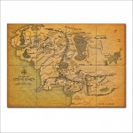 Map of Middle Earth - Lord of the Rings Giant Wall Art Poster