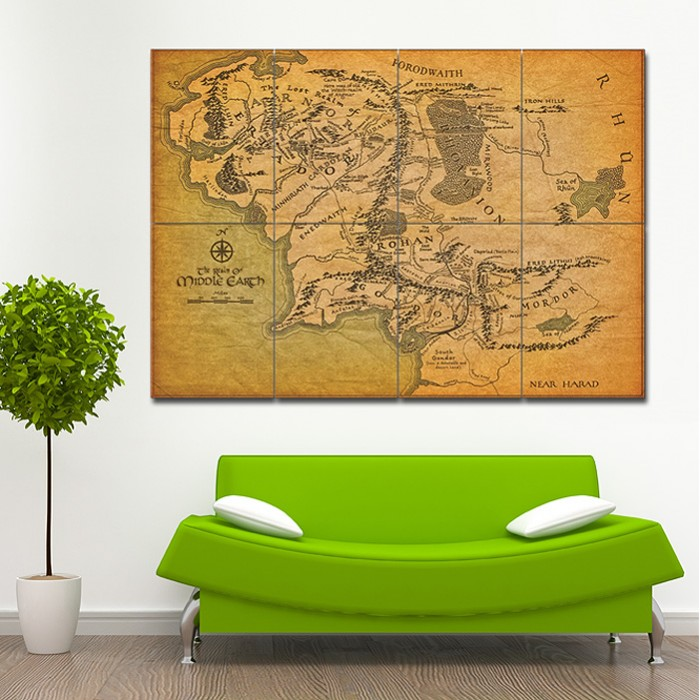 Map of middle earth lord of the rings giant wall art poster publicscrutiny Choice Image