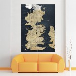 Game of Thrones World Map Block Giant Wall Art Poster