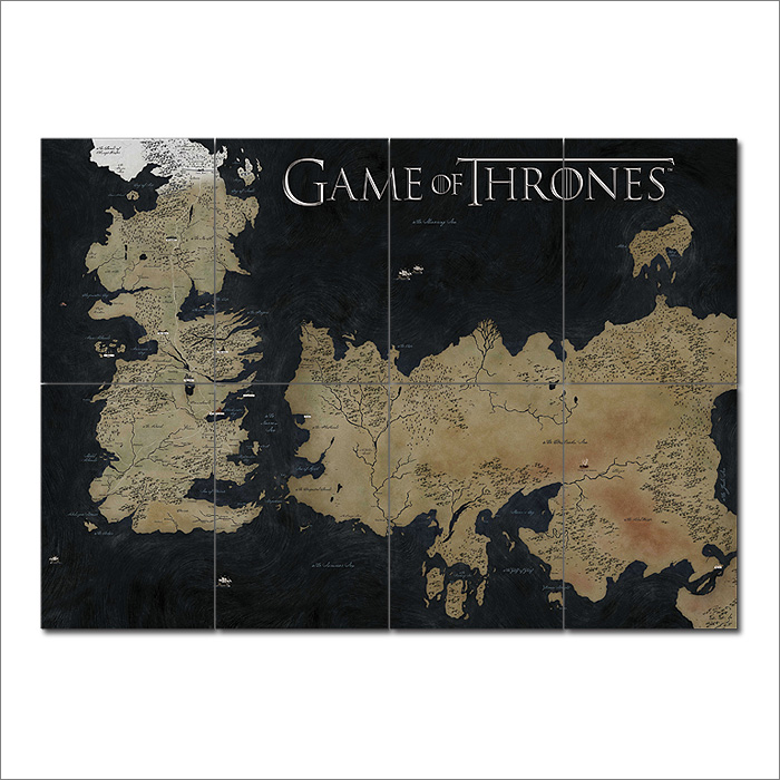 Game of thrones world map block giant wall art poster gumiabroncs