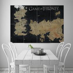 โปสเตอร์ ขนาดใหญ่ แผนที่ Game Of Thrones World Map of Westeros and Essos  (P-1493)