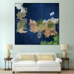 โปสเตอร์ ขนาดใหญ่ แผนที่โลก World View Westeros & Essos