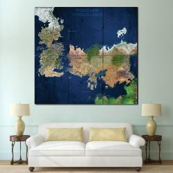 โปสเตอร์ ขนาดใหญ่ แผนที่โลก World View Westeros & Essos  (P-1495)