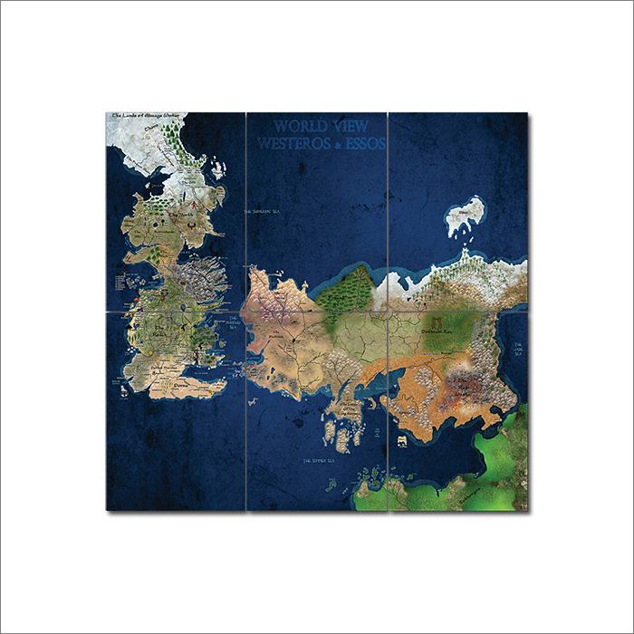 World View Westeros & Essos Wand-Kunstdruck Riesenposter