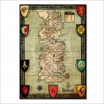 Game of thrones Map Seven Kingdoms of Westeros Giant Wall Art Poster