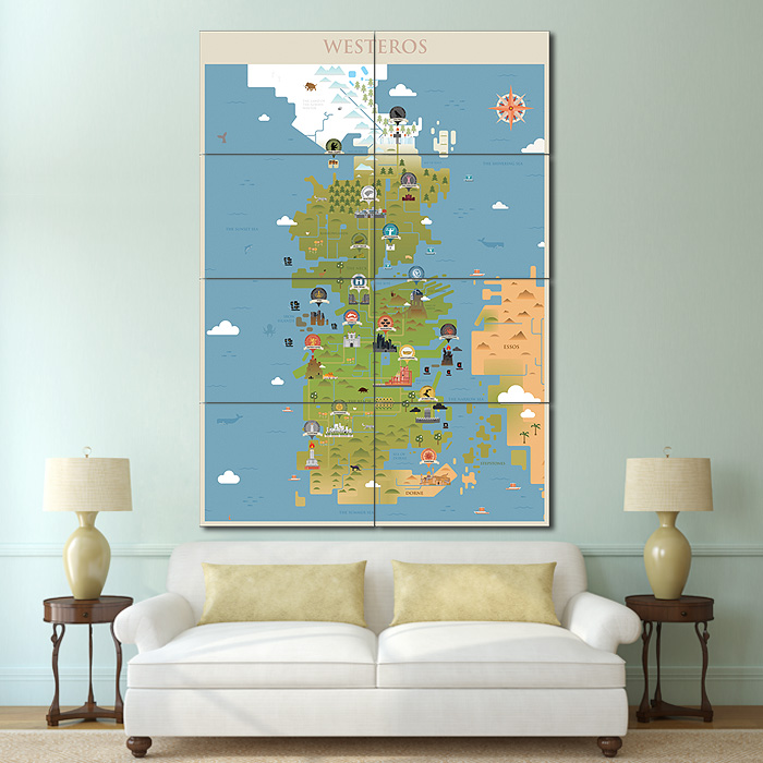 Game of thrones westeros map block giant wall art poster gumiabroncs