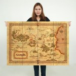 โปสเตอร์  ขนาดใหญ่ ภาพนาร์เนียแผนที่ Narnia Map
