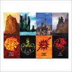 โปสเตอร์ ขนาดใหญ่ ภาพ Game of Thrones Sigils Castles #1
