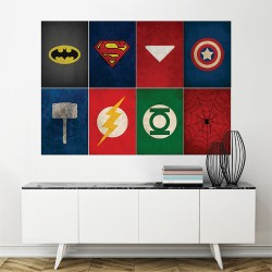 โปสเตอร์ ขนาดใหญ่ ภาพ ซุปเปอร์ฮีโร่ Logo Superhero (P-1501)