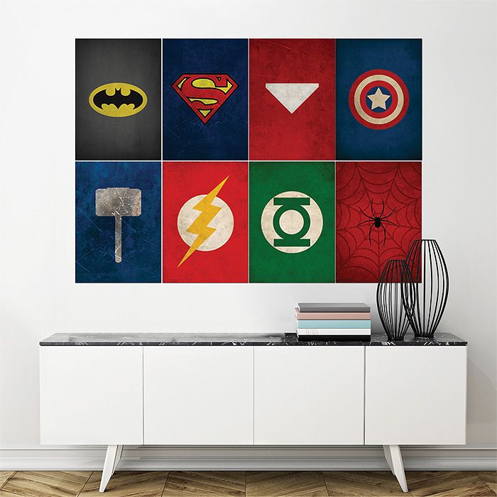 Giant Wall Art superhero block giant wall art poster