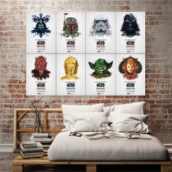 Star Wars Identities Block Giant Wall Art Poster (P-1502)