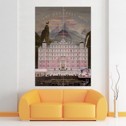 The Grand Budapest Hotel Film Movie Block Giant Wall Art Poster (P-1503)