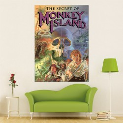 Monkey Island Block Giant Wall Art Poster (P-1505)