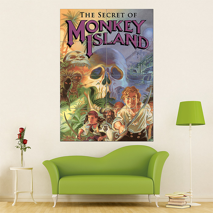 monkey island block giant wall art poster