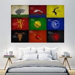 Game of Thrones - House Sigils #1 Block Giant Wall Art Poster (P-1507)