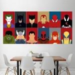 โปสเตอร์ ขนาดใหญ่ ภาพ ซุปเปอร์ฮีโร่ Superheroes Characters