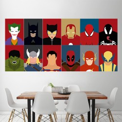Superhero character #1 Block Giant Wall Art Poster (P-1508)