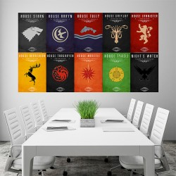 Game of Thrones - House Sigils #2 Block Giant Wall Art Poster (P-1510)