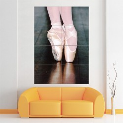 Ballet Shoes Block Giant Wall Art Poster (P-1512)
