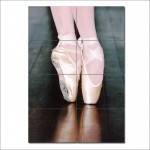 Ballet Shoes Block Giant Wall Art Poster
